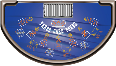 3 card poker felts for sale